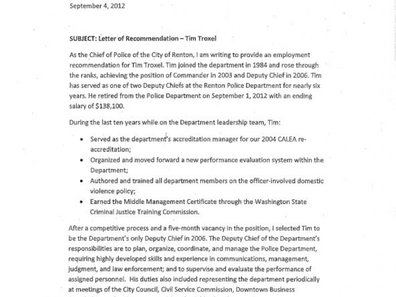 deputy police chief troxel gets letter of reprimand in