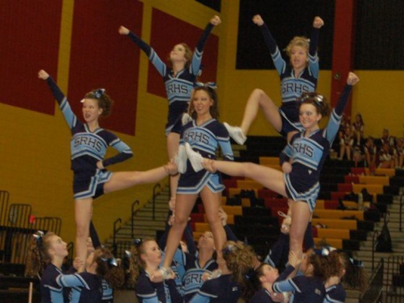 South river s co ed cheerleading squad took first place on saturday at