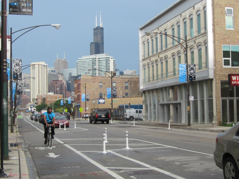 Bike Milwaukee To Chicago Bike Lanes Open on Milwaukee