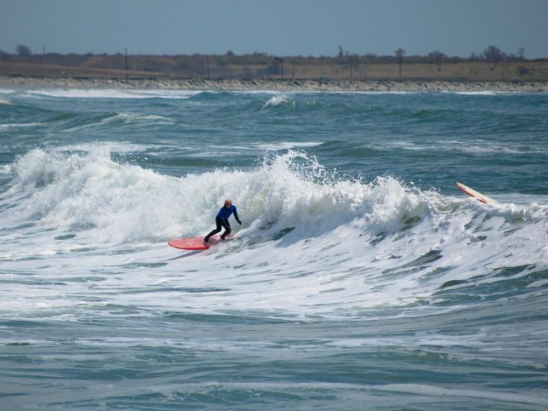 Surfing Little Compton Rhode Island