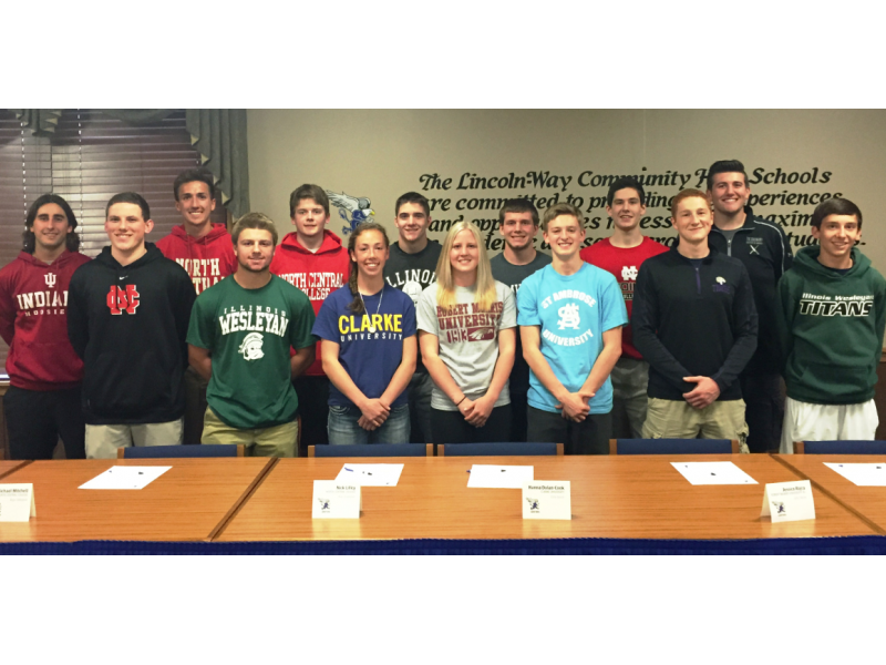 Lincoln Way East Honors Student Athletes In Signing Ceremony
