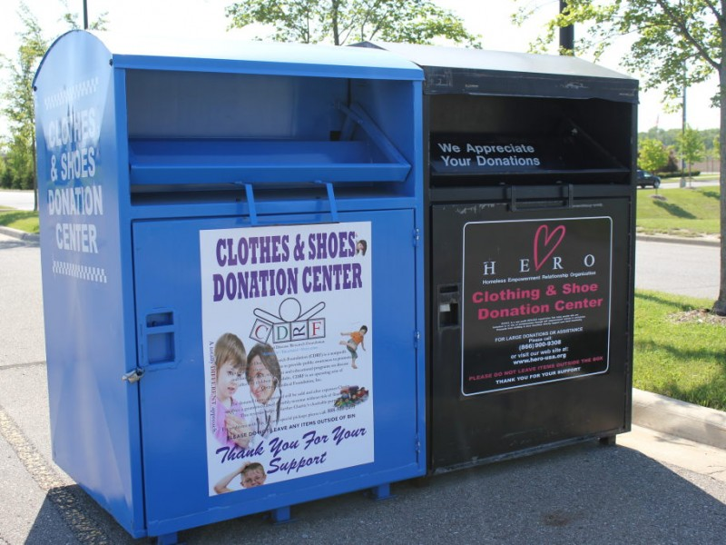 sound off clothing donation bins around town mineola ny patch. Black Bedroom Furniture Sets. Home Design Ideas