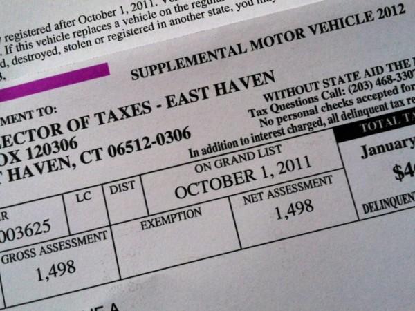 Vehicle Property Tax Hamden