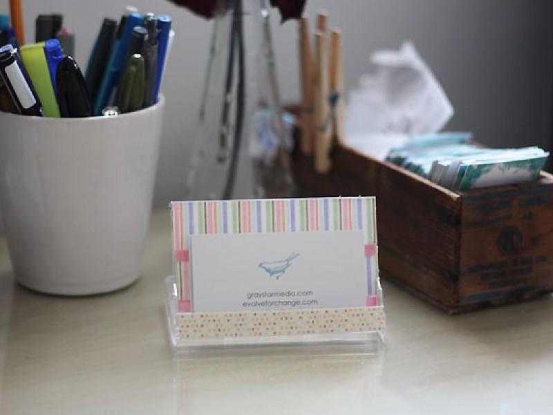 Desk Calendar Stand Diy : Diy business card holder and desk calendar rockville