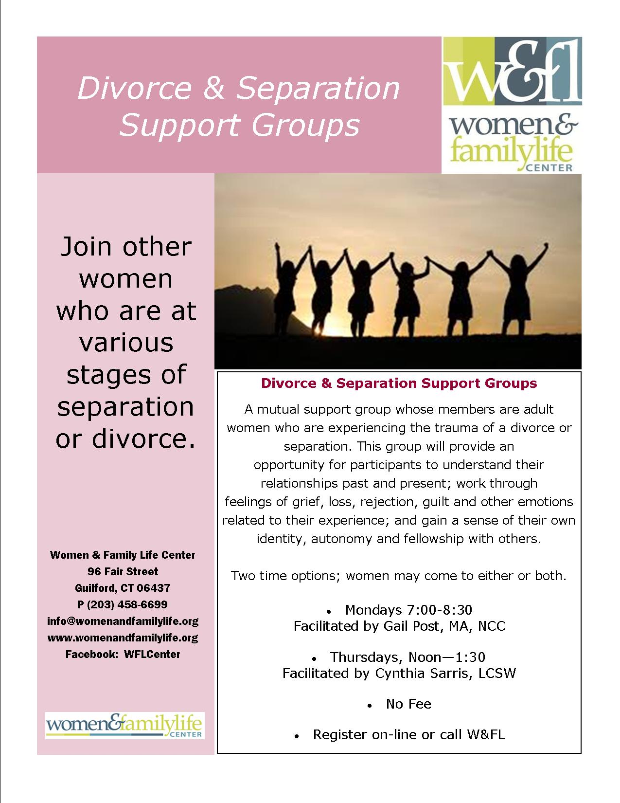 support group for divorcees dating
