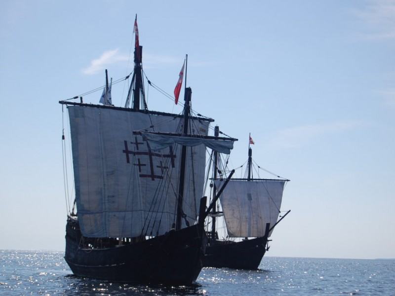 Replicas of Christopher Columbus' Ships to Dock in Wyandotte