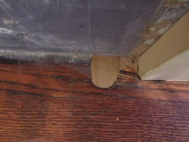 Filling radiator pipe holes in hardwood floors concord for Wood floor hole filler