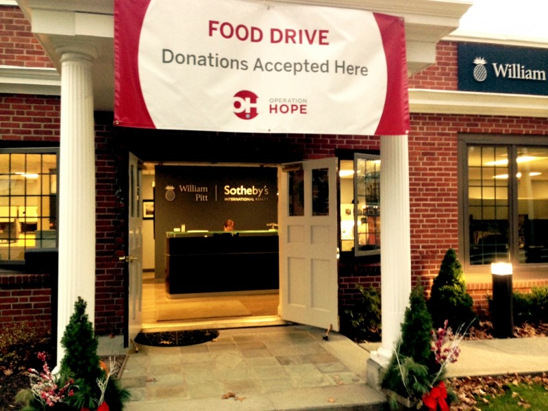 Realty firm helps collect food for operation hope pantry for Hope kitchen bridgeport ct
