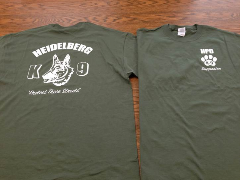 T shirt fundraiser to benefit heidelberg k 9 unit patch for Sell t shirts for charity