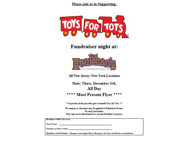 Toys For Tots Raffle : Toys for tots fundraiser at houlihan s