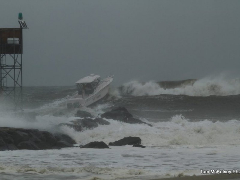 Photos Boat Struggles In Shark River Inlet Wall Nj Patch
