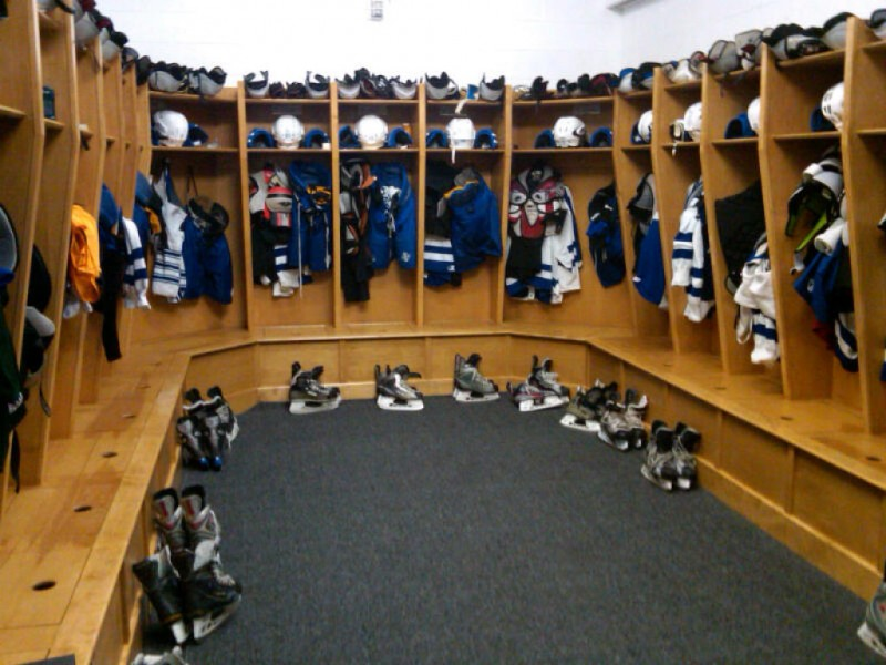 Hockey Locker Room Stalls