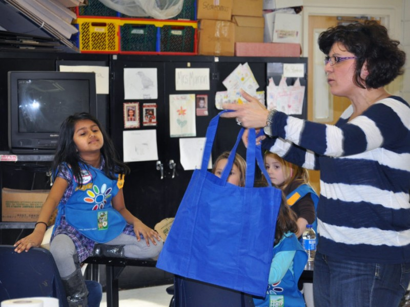 Girl Scouts Donate Birthday Bags To Food Pantry