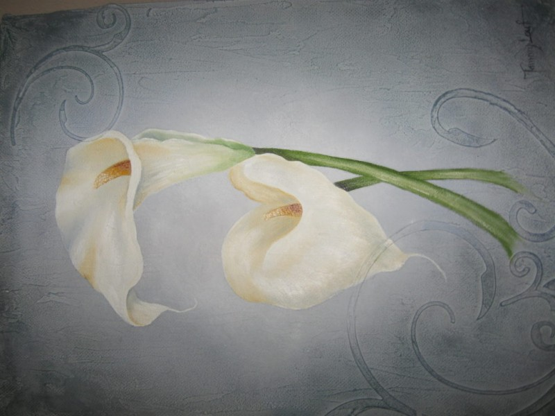 Oil Painting Class Calla Lilies Canvas Mount Pleasant
