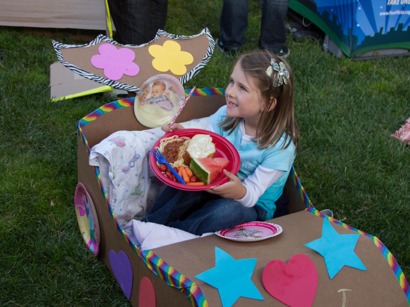 Summer Party Idea Cardboard Box Drive In San Leandro