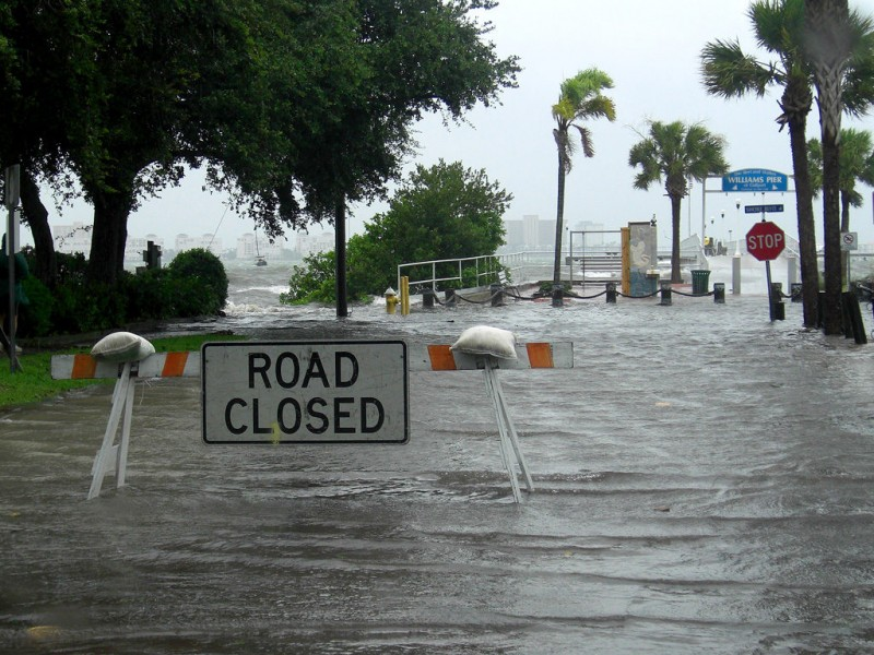 gulfport beach underwater downtown streets flooded