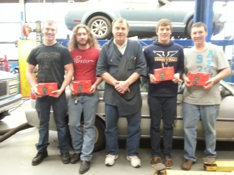 Wyandotte students win more than 5 000 in tools for auto for Royal family motors canton
