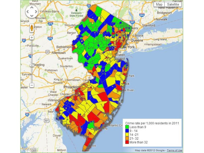 How Does Crime In Ramsey Compare To Neighboring Towns Ramsey - Map of new jersey towns