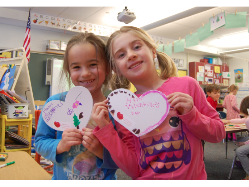 Young And Old Celebrate Valentine S Day Early With Hand