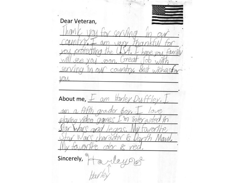 write a letter to a veteran