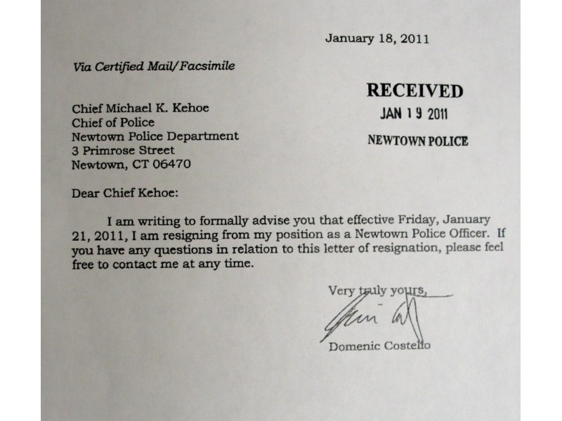 Read Resignation Letters Of 2 Officers At Center Of Police