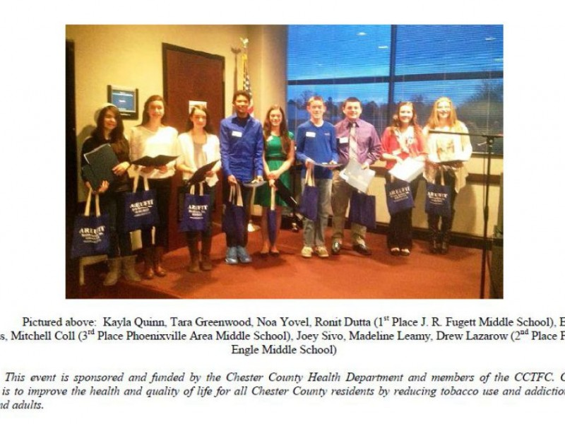 phoenixville kids honored for anti smoking essays phoenixville  phoenixville kids honored for anti smoking essays