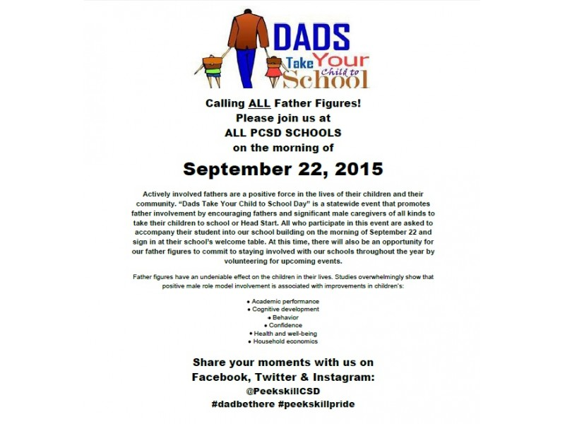 Peekskill Schools Invite All Father Figures To Quot Take Your