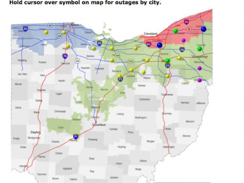 First Energy About 1000 Without Power In Solon Oh Patch: First Energy Outage Map Ohio At Slyspyder.com