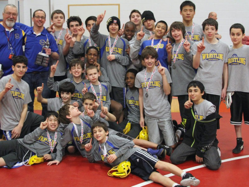 twin groves middle school wrestlers are patriot athletic