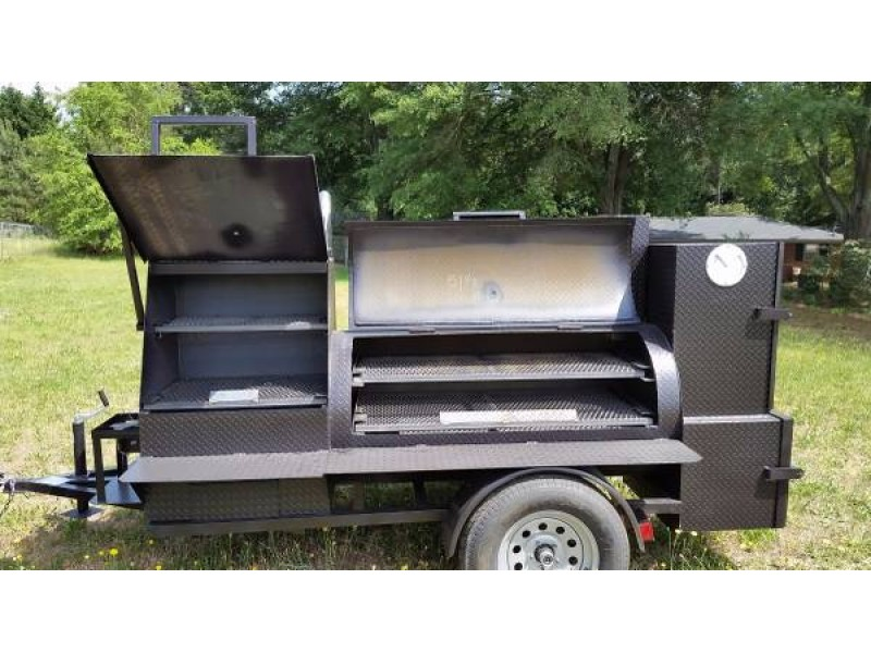 Water Tank Trailer >> BBQ Smoker Cooker Grill Competition Trailer Upgrade Rims Vin Plate - Dacula, GA Patch