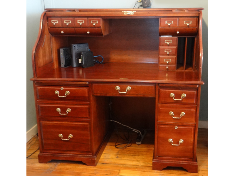 Solid Cherry Wood Roll Top Computer desk 50000 OBO Portsmouth