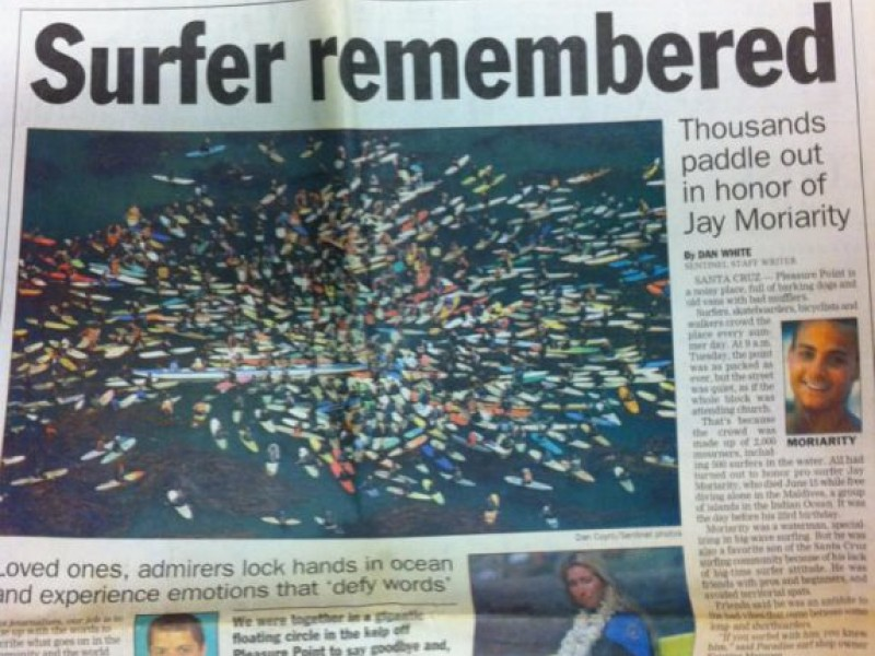 Jay Moriarity Successfully Immortalized In Chasing