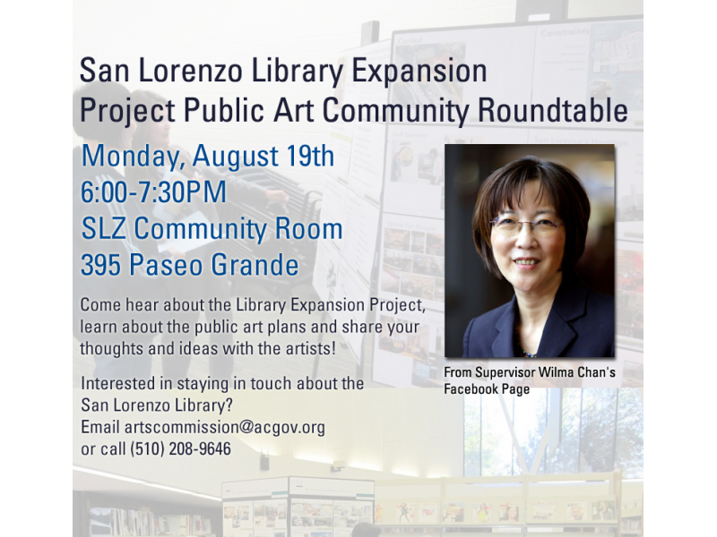 ... San Lorenzo Library Expansion Project Public Art Community Roundtable,  Aug 19th At 6pm 0 ...
