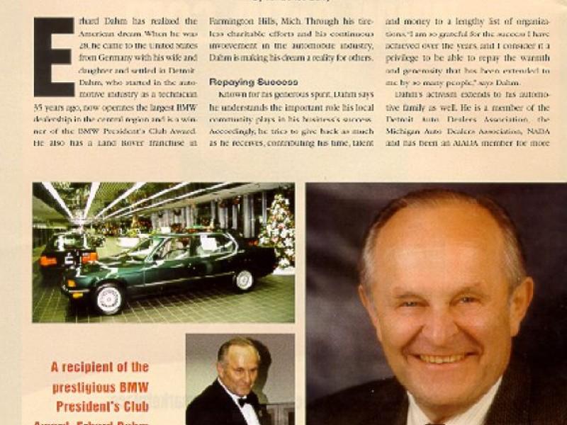 Bmw Farmington Hills >> Bloomfield Hills' Erhard BMW Represents the American Dream - Bloomfield, MI Patch