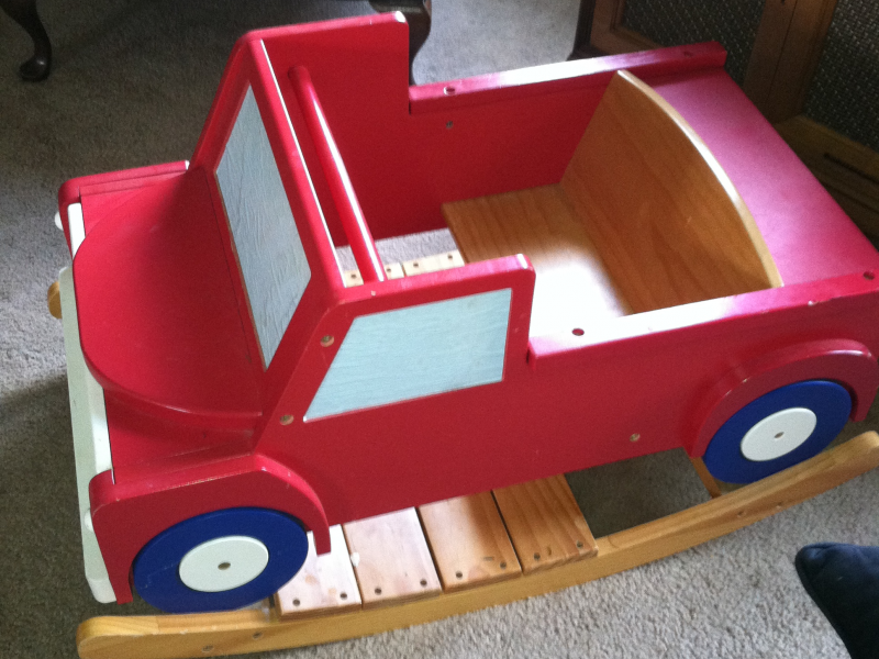 Wooden Fire Truck rocking chair | Plainfield, IL Patch
