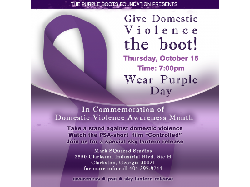 October is National Domestic Violence Awareness Month ...