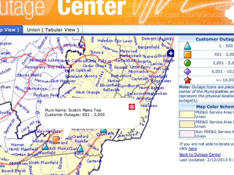 Update PSEG Outage Map Reporting Power Is Restored Scotch - Us power outage map