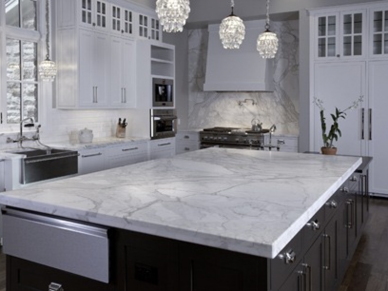 White Granite Kitchen Tops
