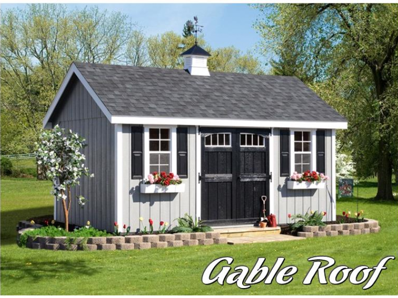 Selecting a Shed Roof for your Storage Shed Gable vs