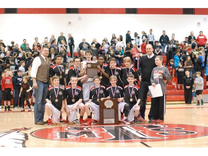 teasley  freedom middle schools win basketball championships