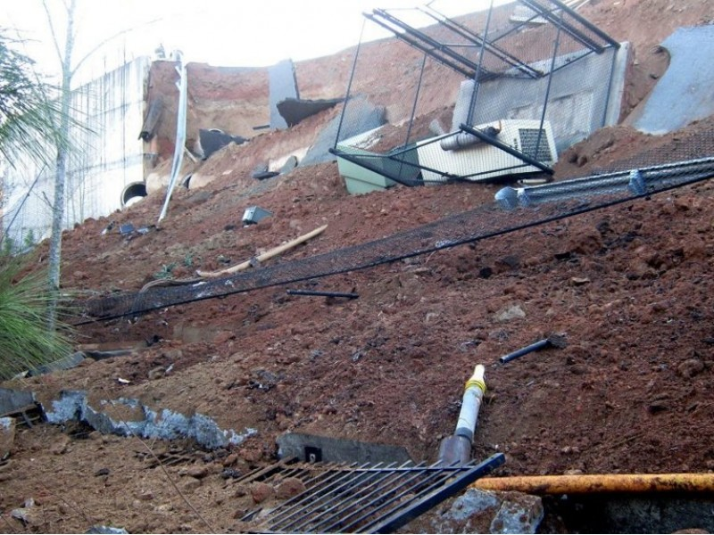 Retaining Wall Home Depot retaining wall collapses behind home depot - canton, ga patch