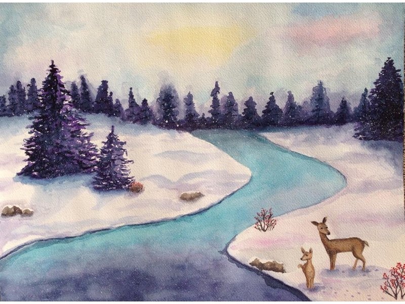 Winter Watercolor Painting Classes | Joliet, IL Patch Real Snowflake