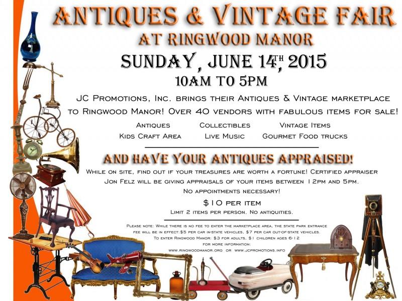 Antiques & Vintage Fair at Ringwood Manor!