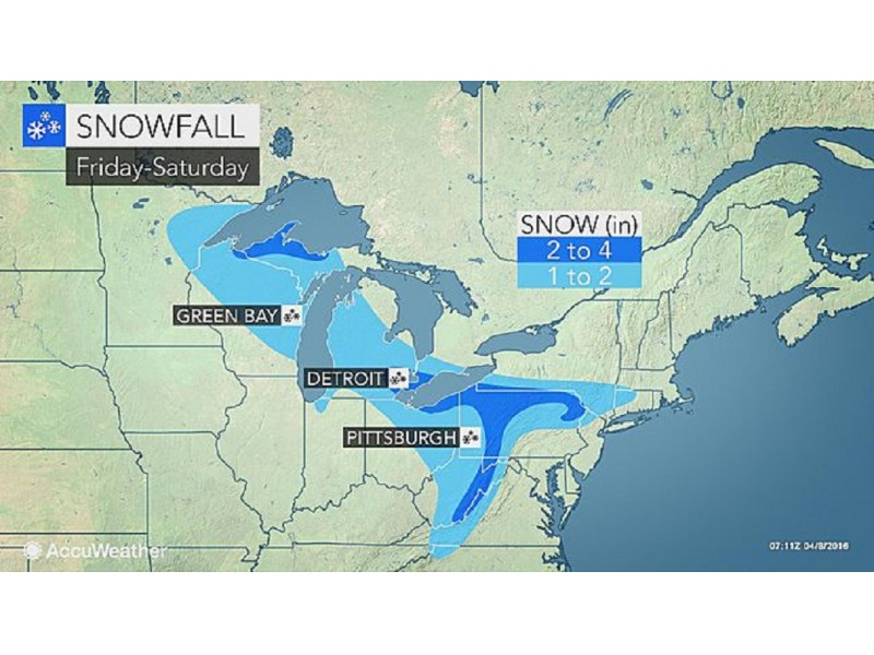 Weekend Snow Forecast For Fairfield Revised