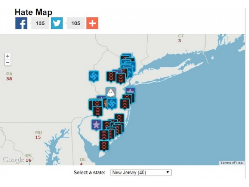 Toms River Home To One Of Hate Groups Recognized In NJ Toms - Kkk us map howell