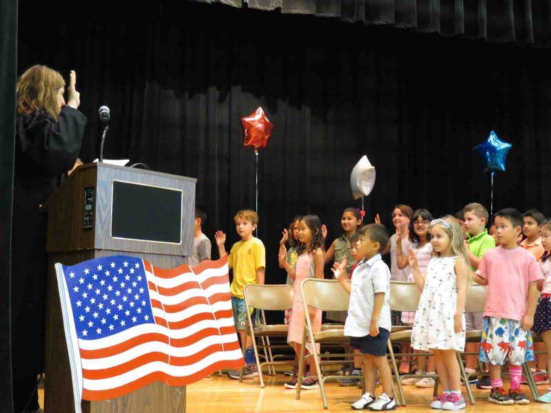 South grove student council members get sworn in by nys - Long island swim school garden city ...