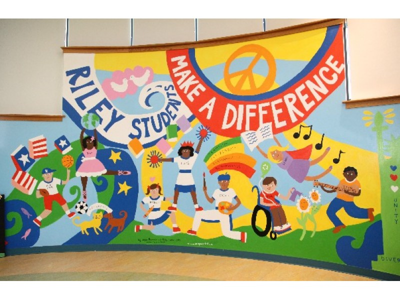 Riley avenue elementary school hosts celebration of for Elementary school mural