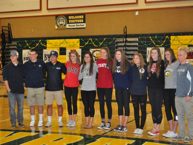 San Ramon Valley High School National Letter Of Intent Signing Day