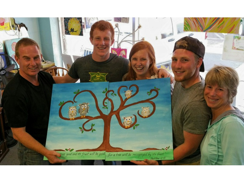 quality family fun together an art project that you paint together in cary 0