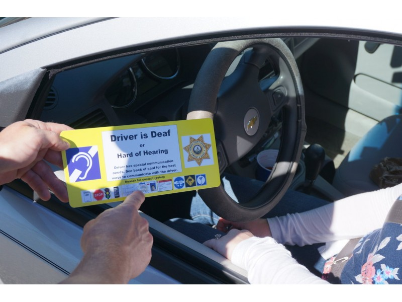 Visor Card Helps Police Interact With Hearing Disabled